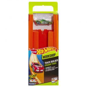 Hot Wheels Track Builder rechte racebaan met auto