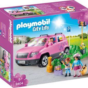 PLAYMOBIL Familiewagen met parkeerplaats - 9404