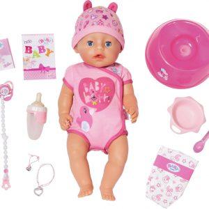 BABY born? - Interactieve Babypop - Soft Touch Meisje - 43cm
