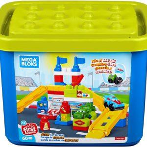 Mega Bloks First Builders Elektrische Garage - Speelset