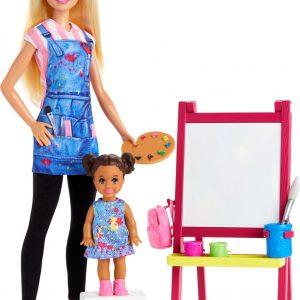 Barbie Kunstlerares en Speelset Blond - Modepop