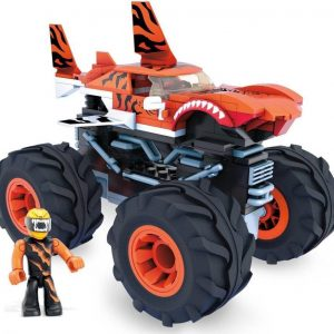 Mega Bloks -  Hot Wheels Monster Tiger Shark Constructie Bouwspeelgoed